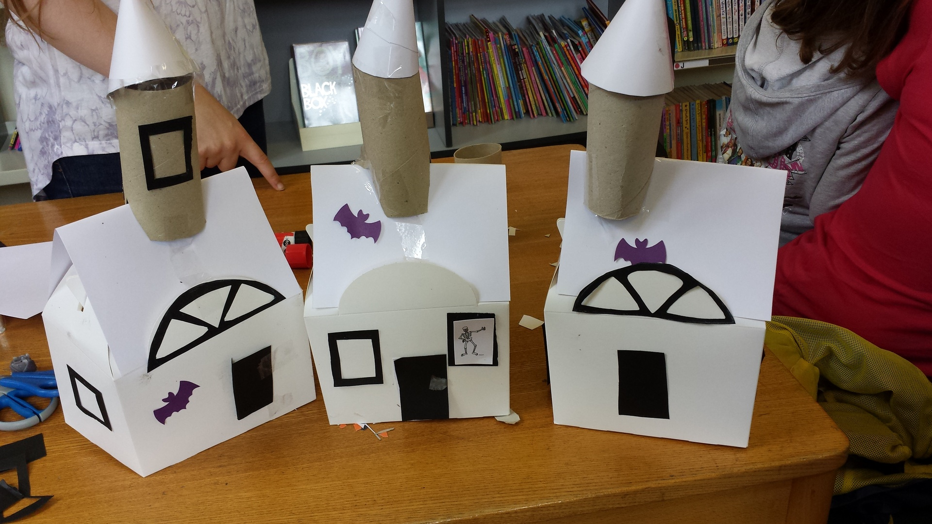 Creepy Houses made by the children